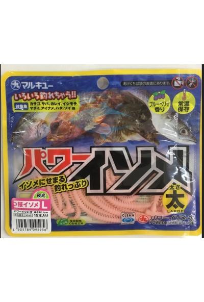 Marukyu Power Isome 11 cm Silikon Yem Pembe Large
