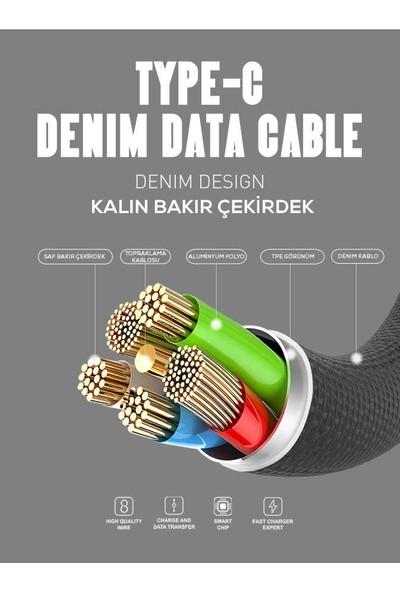 Zore LS63 Type-C Kablo 2.4A Hızlı Şarj ve Data Kablosu 1 mt - Kırmızı