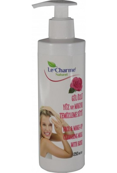 Le Charme Naturel Gül Özlü Makyaj ve Yüz Temizleme Sütü