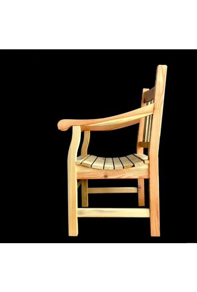 Kocatarla Kollu Sandalye Doğal Masif Ahşap