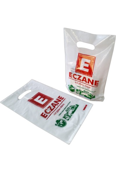 Hoşgör Plastik Bio Eczane Poşeti El Geçme 15 x 25 5000'li