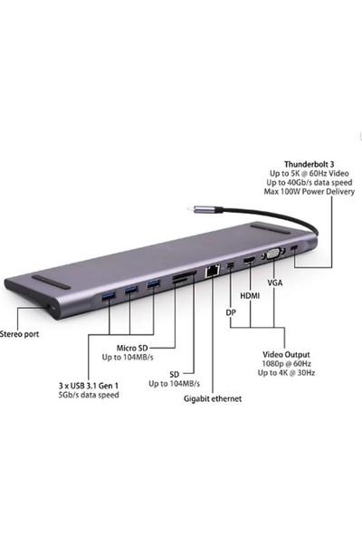 Orite Multifunction Type-C 11IN1 Çoklayıcı Adaptör