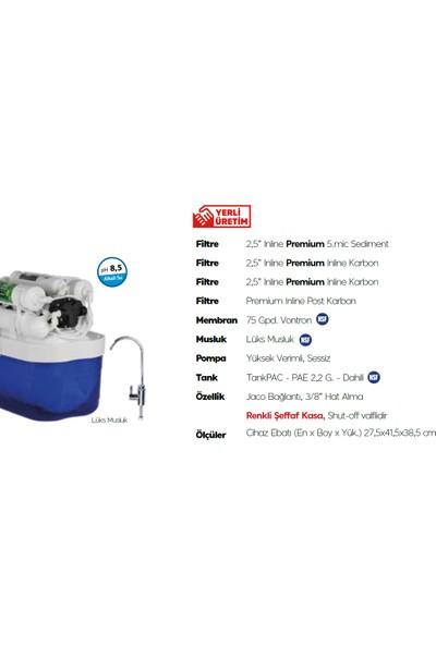 AquaTürk Stratos Premium Pompalı Su arıtma Cihazı 3-05-STR-IN P Mavi