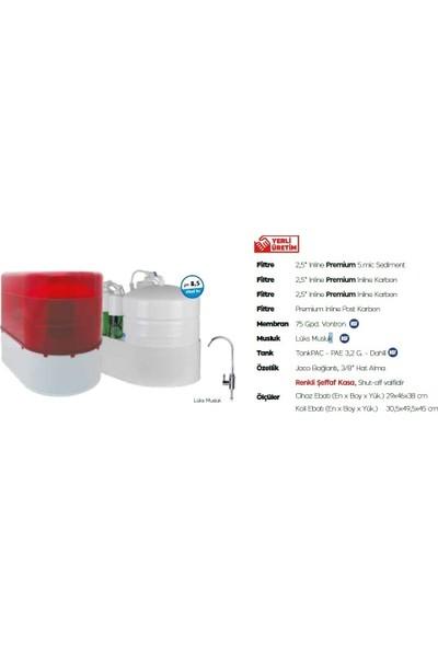 AquaTürk Safir Premium Pompalı Su Arıtma Cihazı (3-05-SFR-IN P)Kırmızı