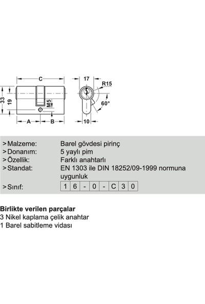 Hafele Barel Kilit Göbeği 30 x 35mm