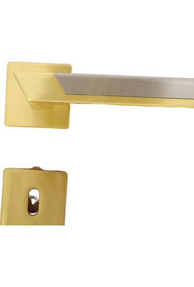 Azm System Pandora Mat Altın Glb-Glb-Nb Rozetli Kapı Kolu Oda