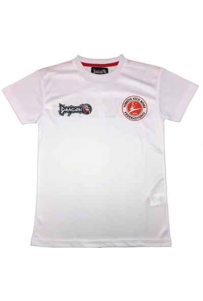 Dragon KF1004 Kick Boks Tişörtü - Beyaz