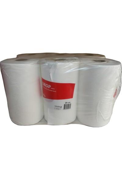 Drop Hareketli Rulo Kağıt Havlu / 25 Cm. / 8 Kg. / Koli : 6'lı Rulo