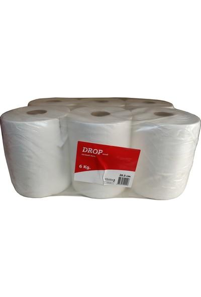 Drop Hareketli Rulo Kağıt Havlu / 21 Cm. / 6 kg / Koli : 6'lı Rulo