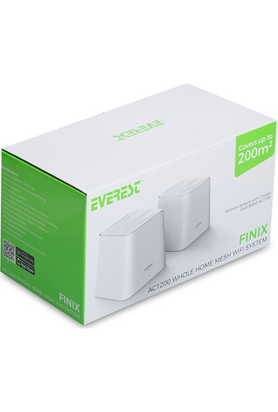 Everest Fınıx Mw3-2p 2.4ghz 5ghz AC1200 IEEE802.3, IEEE802.3U 2li Mesh Kablosuz Ac Router
