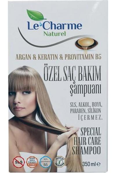Le Charme Naturel Argan Keratin Provitamin B5 Özel Saç Bakım Şampuanı
