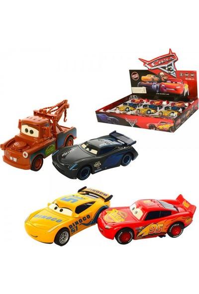 Hepsilazım Metal Arabalar Şimşek Mcqueen Jackson Storm Ramirez Cruze Mater 4'lü Oyuncak Cars Set