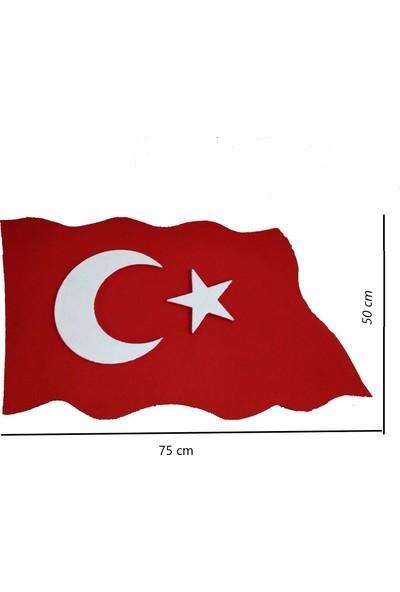Propiyer Strafor Boyalı Dalgalı Bayrak 75 x 50 x 3 cm