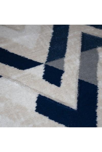 Payidar Kesme Halı H776 Mavi 80 x 50 Paspas Kesme Yolluk