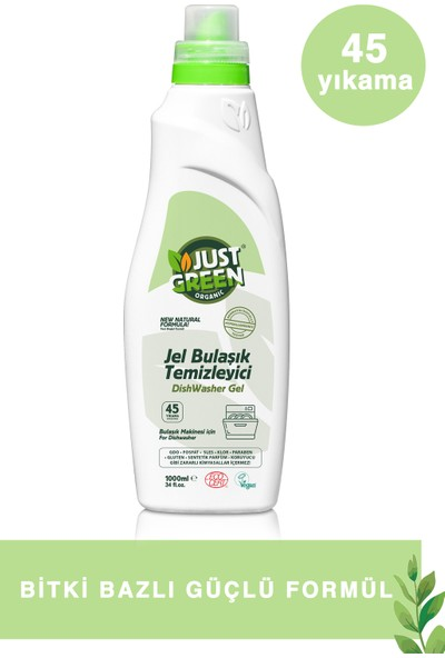 Just Green Organic Bulaşık Makinesi Jeli 45 Yıkama 1000ml