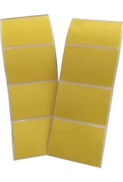 USB İlaç Kullanım Tarifi 40 x 60 mm Termal Barkod Yazıcı Etiketi - 5.000 Adet