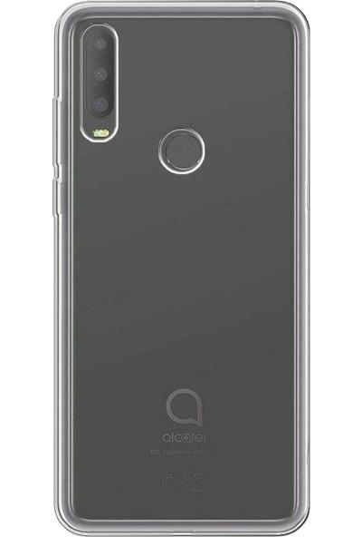 Tbkcase Alcatel 3X 2019 Kılıf Tpu Silikon Şeffaf + Nano Ekran Koruyucu