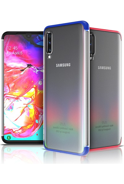 Happyshop Samsung Galaxy A30S Kılıf 3 Parça 360 Transparan Nili Kapak + Nano Cam Ekran Koruyucu - Siyah