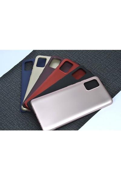 Happyshop Samsung Galaxy A51 Kılıf Ultra İnce Mat Silikon + Nano Cam Ekran Koruyucu - Siyah