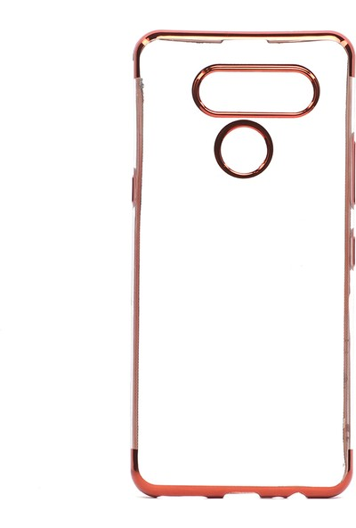 Happyshop LG K50S Kılıf 4 Köşe Renkli Laser Silikon + Nano Cam Ekran Koruyucu - Kırmızı