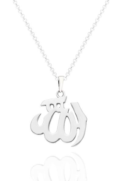 Chewell Gümüş Allah Yazılı Erkek Kolye