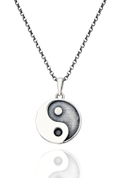 Chewell Gümüş Ying Yang Erkek Kolye