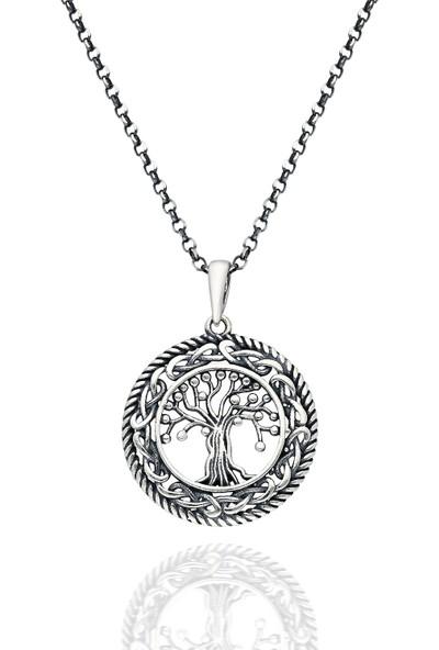 Chewell Gümüş Hayat Ağacı Erkek Kolye