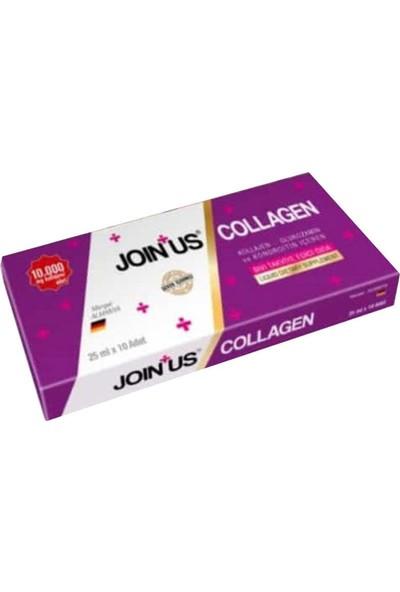 Join Us Collagen Kolajen Içeren Sıvı Takviye Edici Gıda 25 ml x 10 Adet 0368