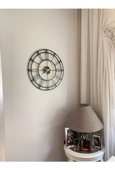 Perim Decor 70 cm Roma Rakamlı Siyah Duvar Saati