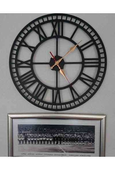 Perim Decor 60 cm Roma Rakamlı Siyah Duvar Saati