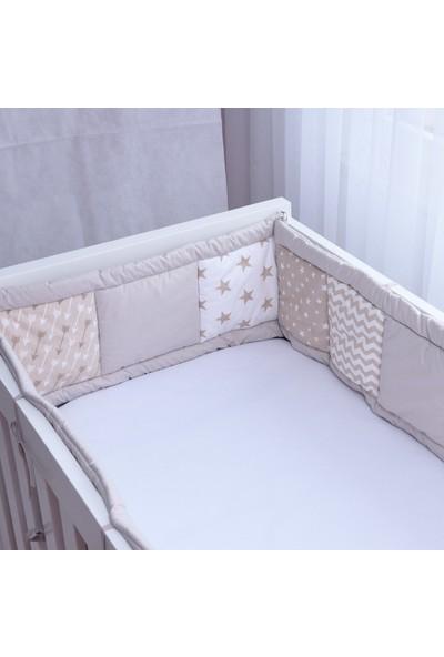 Babyroom Kırkyama Yatak Yan Korumalık Oklar Vizon