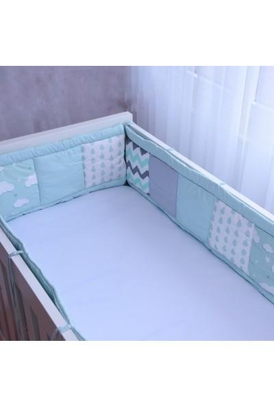 Babyroom Kırkyama Yatak Yan Korumalık Bulut Mint