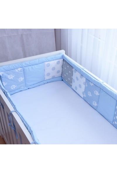 Babyroom Kırkyama Yatak Yan Korumalık Fil Mavi