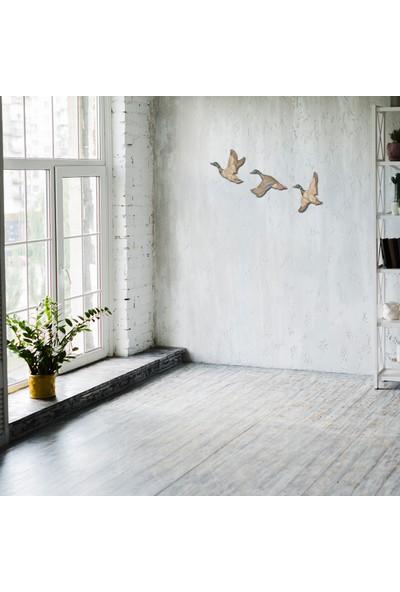 Yalılı Seramik Dekoratif Üçlü Ördek Ev Duvar Aksesuarı Biblo