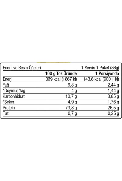 West Nutrition Whey Protein Tozu 18 Servis Şase 648 gr