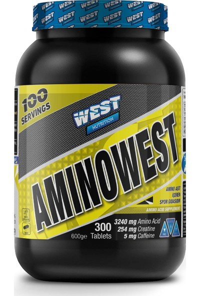 West Nutrition Amino West 300 Tablet Amino Asit