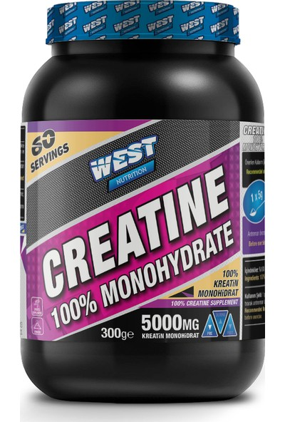 West Nutrition Kreatin Monohidrat 300 gr - 60 Servis