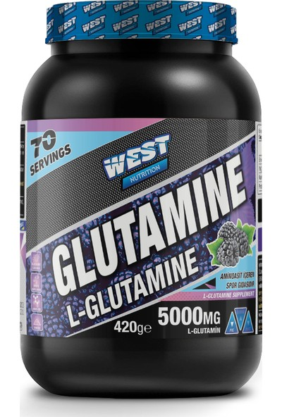 West Nutrition L-Glutamine 420 gr Böğürtlen Aromalı 70 Servis