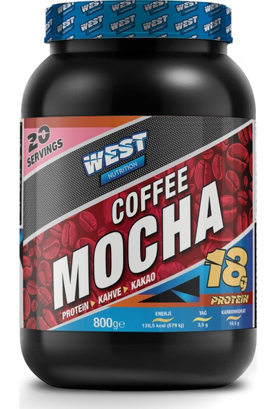 West Nutrition Proteinli Mocha Kahve Tozu 800 gr 20 Servis