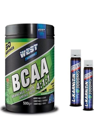 West Nutrition BCAA 500 gr + 2 Adet Karnitin Shot