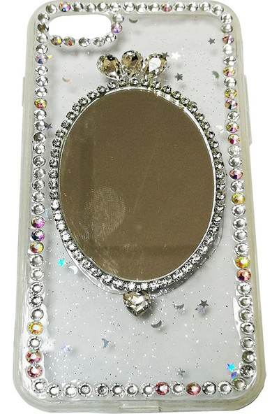 Haskom Apple iPhone 7 Taşlı Aynalı Kılıf