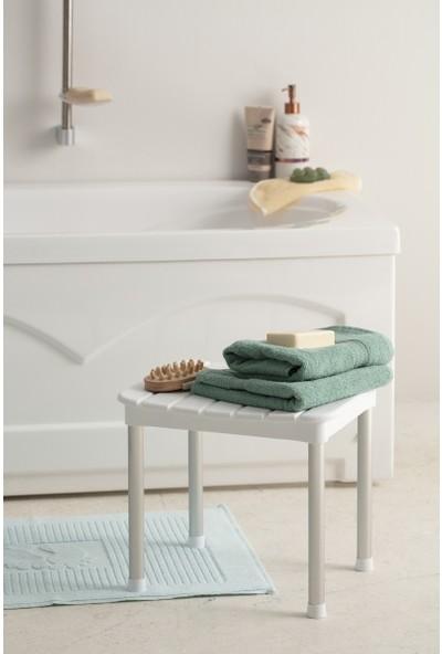 Primanova Okaliptus Banyo Taburesi Beyaz