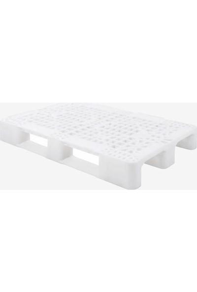Hira Delikli Beyaz Plastik Taşıma Paleti 80 x 120 x 15 cm