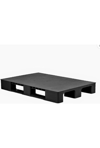 Hira Düz Desen Siyah Plastik Taşıma Paleti 80 x 120 x 15 cm