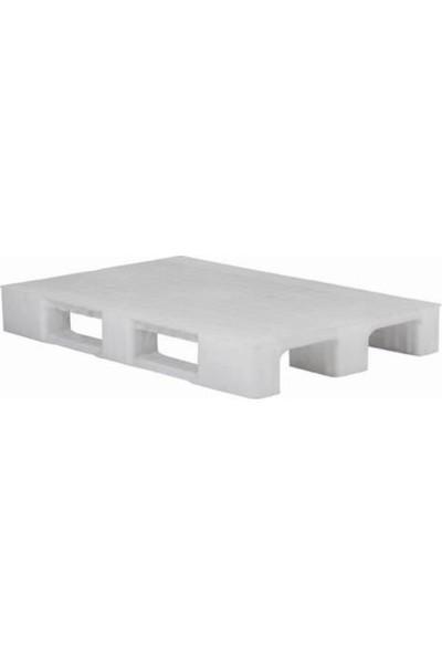 Hira Pullu Beyaz Plastik Taşıma Paleti 80 x 120 x 15 cm