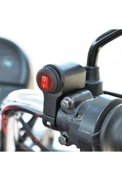 Knmaster Motosiklet Gidon Tipi Körüklü Aç Kapa Butonu