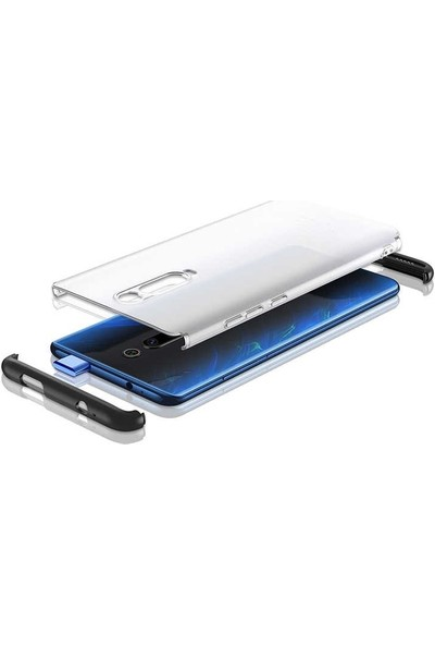 Gpack Xiaomi Redmi K20 Kılıf Nili 3 Parça Korumalı Mat Görünüm Kırmızı