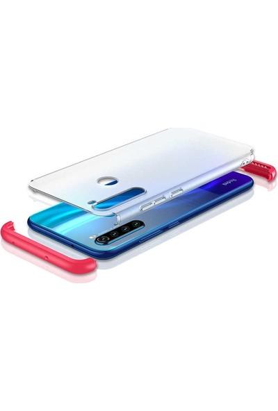 Gpack Xiaomi Redmi Note 8 Kılıf Nili 3 Parça Korumalı Mat Görünüm Mavi