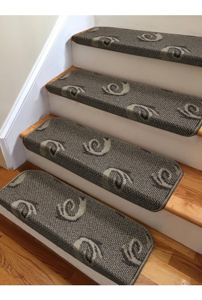 Stepmat Kahverengi Kendinden Yapışkanlı Merdiven Basamak Paspası Halısı