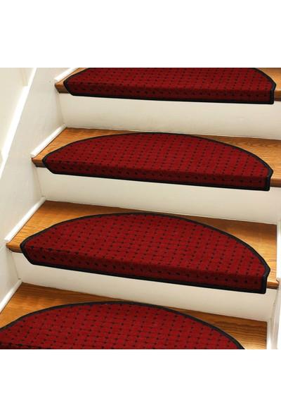 Stepmat Kırmızı Kendinden Yapışkanlı Merdiven Basamak Paspası Halısı